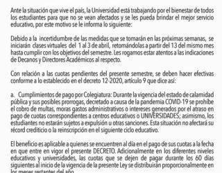 Comunicado Oficial Universidad Mesoamericana