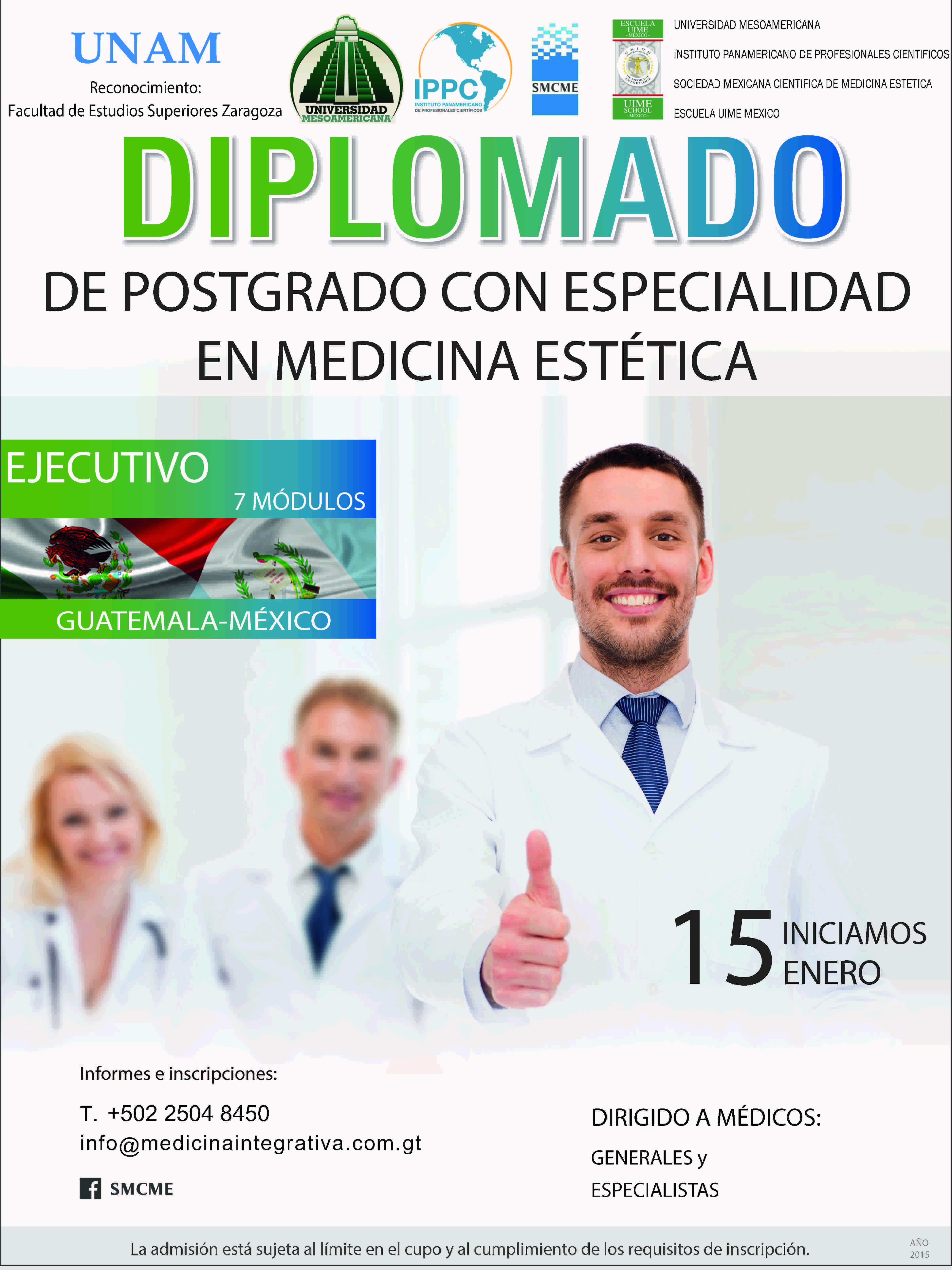 Diplomado en Postgrado con Especialidad en Medicina Estética