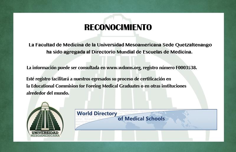 Reconocimiento Facultad de Medicina – Sede Quetzaltenango