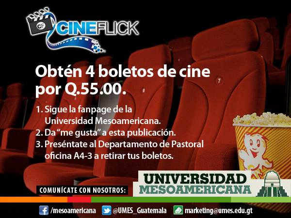 Obtén boletos de cine a precio especial