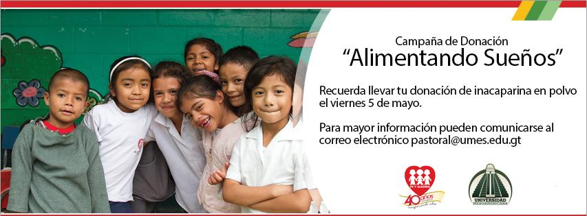 """Colecta de Donaciones – Campaña """"Alimentado Sueños"""""""