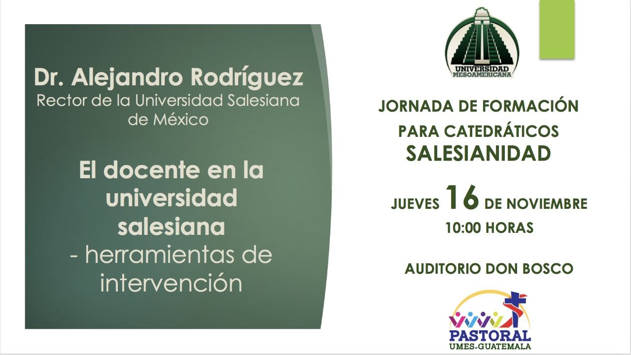 "Conferencia ""El docente en la Universidad Salesiana"""